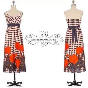 Maeve Anthropologie Tulip Fields Maxi Dress Sz 0